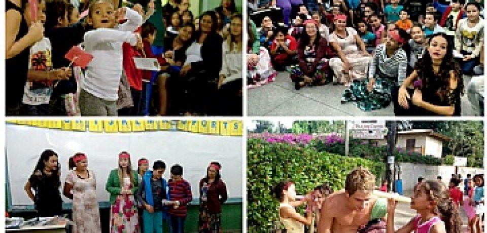 Exposição e apresentações teatrais marcam ações de projeto de leitura