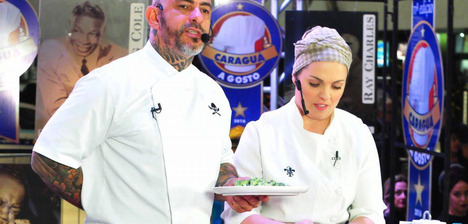 Chef Henrique Fogaça é show em Caraguatatuba