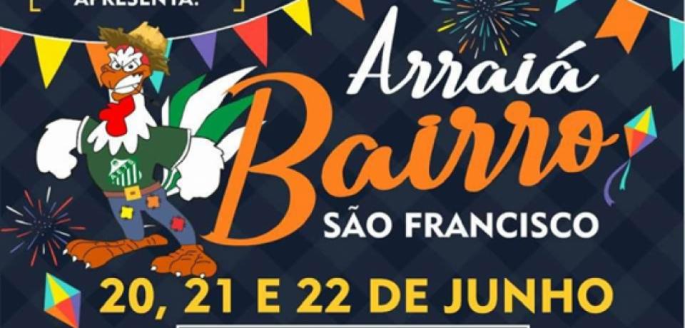 São Sebastião tem Arraiás no Bairro São Francisco e na Costa Sul