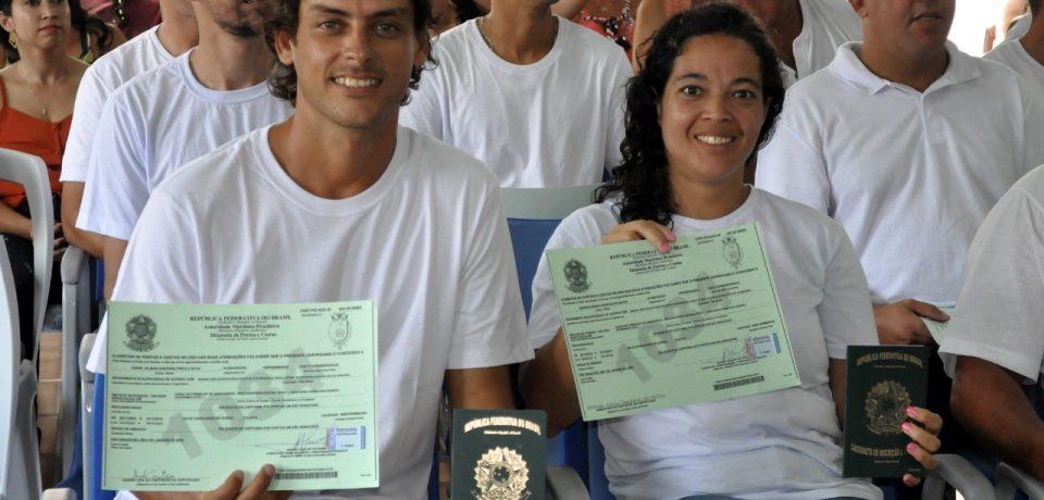Marinha do Brasil e Prefeitura de São Sebastião formam 1ª turma do curso Aquaviários Nível 1 Pescador Profissional